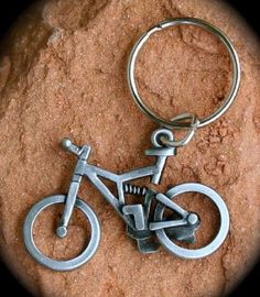 CAN WE PLEASE HAVE THIS IN OUR GOODY BAG???   Full Suspension Mountain Bike Key Ring by BicycleGifts on Etsy, $7.50