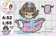Toddler Towels, Shower Time, Precious Moments, Sweet Girls, Crafts To Do, Perler Beads, Cross Stitching, Baby Shower, Cross Stitch Patterns
