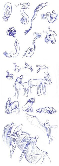 Sirens, centaurs, winged - poses by Batri.deviantart.com on @DeviantArt