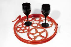 The reCYCLEr, Suites at Market Square, G-3040. Red serving Tray #designonhpmkt http://www.therecycler.ca/