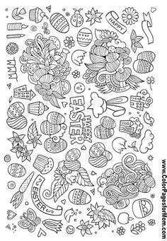 Easter Doodles Coloring page 103
