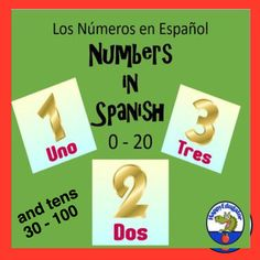 These colorful numbers in Spanish (Los Números) posters can be hung in your classroom to decorate your room and teach students the numbers 0 - 20 and the tens from 30 - 100 in Spanish. Just print out on card stock, trim, and laminate for durability. Back To School Activities, Teaching Activities, Educational Activities, Classroom Activities, Summer Activities, Teaching Resources, Love Teacher, Teacher Blogs, Learning Spanish