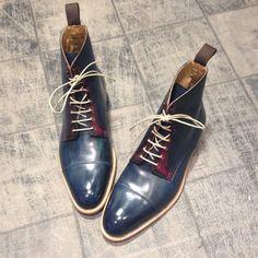 New boots ! 7719 goodyear - Dolphin Blue : 420€ #jmlegazel #dandy #elegance…