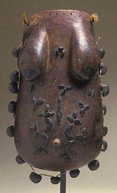 Africa, Mozambique, Tanzania, Makonde peoples Breastplate (njorowe) Wood, beeswax, iron, fiber, pigment