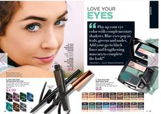 Love Your Eyes: Play up your eye color with #Avon True Color glimmerstick eyeliners, SuperExtend mascara, and an eyeshadow Quad. www.youravon.com/jdinkins?utm_content=bufferd6947&utm_medium=social&utm_source=pinterest.com&utm_campaign=buffer. #makeup #eyeshadow #eyeliner #mascara