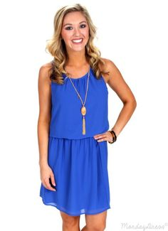 Greatest Love Of All Royal Blue Dress | Monday Dress Boutique
