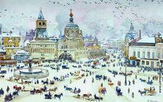 Юон Константин Федорович [1875—1958] Лубянская площадь зимой. 1905