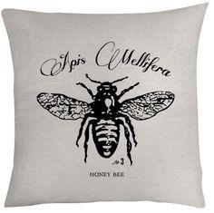 Brand new Honey Bee pillow from Heywen Design.
