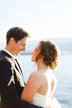 Golden hour bride and groom portrait by Lisa Renault Photographie. Wedding at Auberge Harricana, Val d'Or, Abitibi