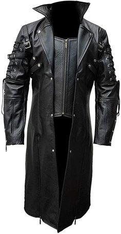 Mens Leather Pants, Leather Coats For Men, Mens Designer Leather Jackets, Langer Mantel, Cool Jackets, Biker Jackets, Men's Coats And Jackets, Plus Size Girls, Halloween Kostüm