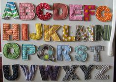 Magnetic BOY Plush Fabric Alphabet Letters by CrunchyFarmBaby