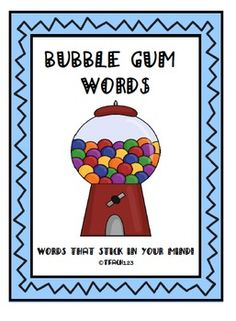 Sight Words - Bubble Gum Words $