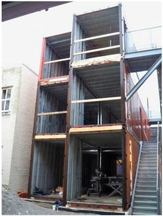 Shipping Container Homes: Multi Shipping Container Home, - Atira Women's Resource, - Alexander Street, Vancouver, Canada,