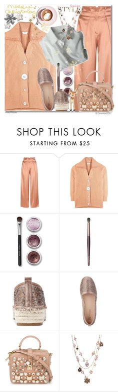 """""""Merry Christmas"""" by octobermaze ❤ liked on Polyvore featuring Edun, Martha Stewart, Bare Escentuals, Dolce Vita, INC International Concepts, Dolce&Gabbana, Betsey Johnson, Bethany Lowe, peach and MerryChristmas"""