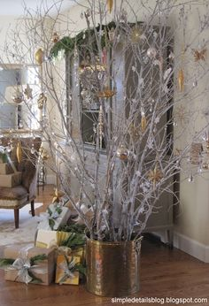 Christmas 2012...home tour - I love this unconventional tree!