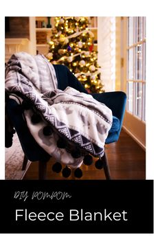 Easy holiday DIY | Fleece blanket | Pompom craft | Beginner sewing projeect | 30 minute DIY | Homemade gift | Throw | Luxe | Glam Gifts | Simple sewing | Cozy blanket | Easy Gifts, Homemade Gifts, Pom Pom Crafts, Cozy Blankets, Sewing For Beginners, Home Goods, Easy Diy, Abcs, Simple