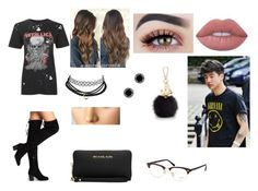 """""""Going To The Mall With Bae"""" by lovinglife56 on Polyvore featuring Topshop, Michael Kors, Furla, Ray-Ban, Marc Jacobs and Lime Crime"""