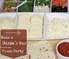 Backyard Bar Party Ideas from Gooseberry Patch: Pizza Fixin's Bar from Around My Family Table