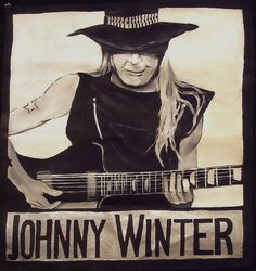 watercolor guitarist johnny winter - Google Search