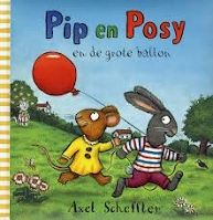 Axel Scheffler - Pip & Posy en de grote ballon. Dit boek heb ik op stage in de boekenhoek gelegd als milieuverrijking bij het thema 'ballonnen'. Het is een eenvoudig prentenboek voor peuters.