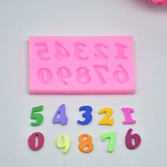 DIY Alphabet Number Silicone Mold Fondant Birthday Cake Decorating Tools Bakeware Mold Pastry Mould Baking Free Shipping 1530