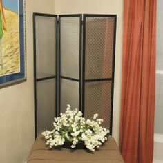 DIY room divider w decorative sheet metal from Home Depot