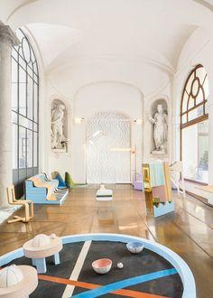 Exhibition design for Swiss Love Design, an exhibition organized by ProHelvetian during Milan Design Week, photo : Raphaëlle Mueller
