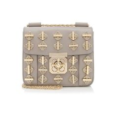 Pre-Owned Chloe Elsie Small Shoulder Bag ($2,500) ❤ liked on Polyvore featuring bags, handbags, shoulder bags, grey, gray leather purse, clear shoulder bag, leather shoulder handbags, grey leather handbags and genuine leather handbags
