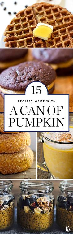 15 Recipes You Can Make with a Can of Pumpkin via @PureWow via @PureWow