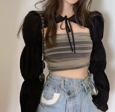 Korean Girl Fashion, Ulzzang Fashion, Kpop Fashion Outfits, Girls Fashion Clothes, Stage Outfits, Edgy Outfits, Korean Outfits, Mode Outfits, Cute Casual Outfits