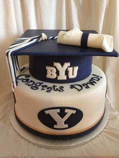 Sugar Love Cake Design: BYU Graduation Cake