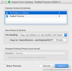 lightroom import from catalog dialog