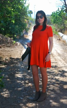 Red Dress. Pregnant Style.