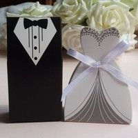 Creo que Exquisite Tuxedo Dress Groom Bridal Wedding Party Favor Gift Ribbon Candy  50 Pcs #lcmq te gustará. Agrégalo a tu lista de deseos   http://www.wish.com/c/541424b9af0de70916ce1ef1