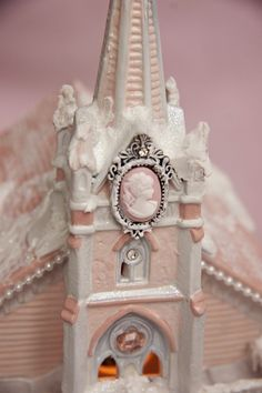 Cameo Village Church. I hand paint these. Click the picture to find this for sale on my eBay site right now!