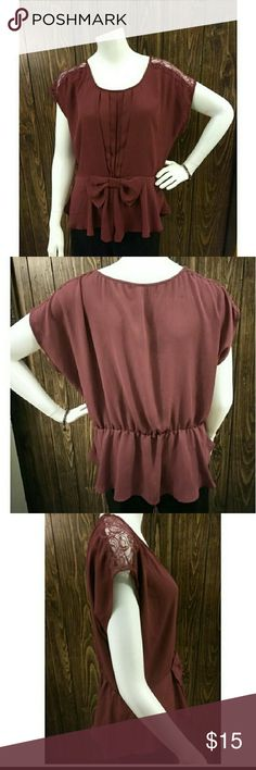 HeartSoul Mauve Blouse Mauve Blouse, excellent condition, super cute for work or after hours. Purchased on Posh with thoughts that it was a plus size and it is not. Must be misses or jrs. Pics of measurements added to ensure correct size.  Last pics show true color. HeartSoul Tops