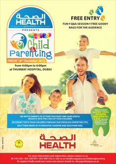 Health presents Child & Parenting event at Thumbay Hospital, Dubai on on Friday, 18th December 2015