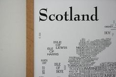 Scottish Gifts - Scotland Sat Nav Print by Adrian - Illustrator