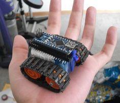 Arduino Nano based Microbot. So cute!