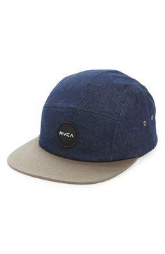 Men s RVCA  Twelve Ounce  Denim Five-Panel Hat - Blue Skate Hats 2057c024ea7