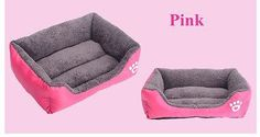 Pink Pet Dog Cat Bed Puppy Cushion House Pet Soft Warm Kennel Dog Mat Blanket - Larg ^^ Find out more details by clicking the image : Pet dog bedding