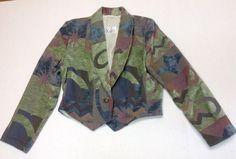 """Vintage"""" EXPOSE"""" USA Tribal/Southwestern Pattern  Blazer-Bolero-Jacket  Size """"M"""" #EXPOSE #JacketBolero"""