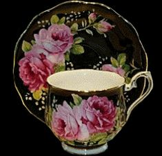 4:00 Tea...Royal Albert...American Beauty Rose pattern...teacup and saucer