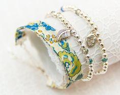 Liberty Silver Bracelet Trio - Felicity Blue