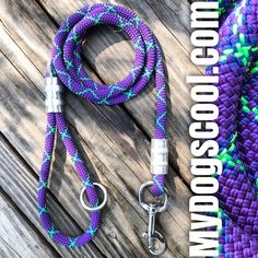 New Purple Storm Climbing Rope Dog Leash Handmade in USA for medium to extra large dogs. Optional carabiner and second handle available. Big Dogs, Large Dogs, Rope Dog Leash, Climbing Rope, Handle, Usa, Medium, Purple, Rope Climbing