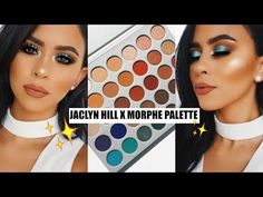 jaclyn hill x morphe palette looks - YouTube