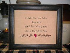 Hand stitched wedding sign...