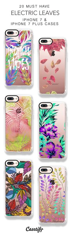 20 Must Have Electric Leaves iPhone 7 Cases and iPhone 7 Plus Cases. More Leaf iPhone case here > https://www.casetify.com/collections/top_100_designs#/?vc=q3bXof4jmI