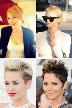 The 32 Best Celebrity Pixie Cuts @ELLE Magazine (US) Pixie Cuts , is becoming more famous towards the end of the year. #haircuts #Hairstyle