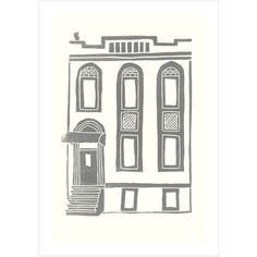 Dot & Bo Burg Brownstone Print in Gray ($25) ❤ liked on Polyvore featuring home, home decor, wall art, grey home decor, gray home decor and home wall decor